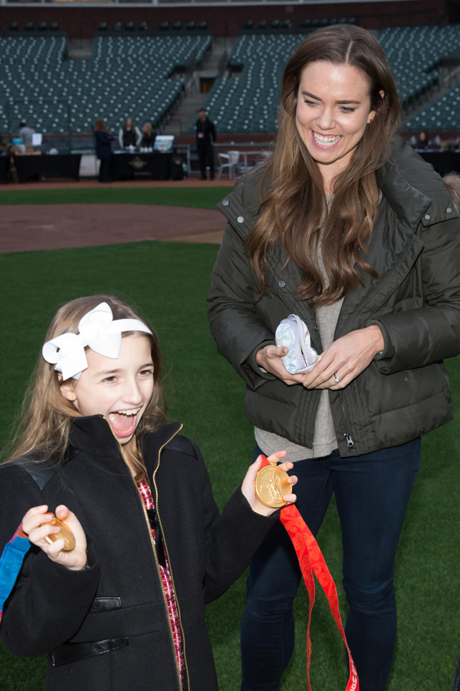 Natalie Coughlin attends Holiday Heroes